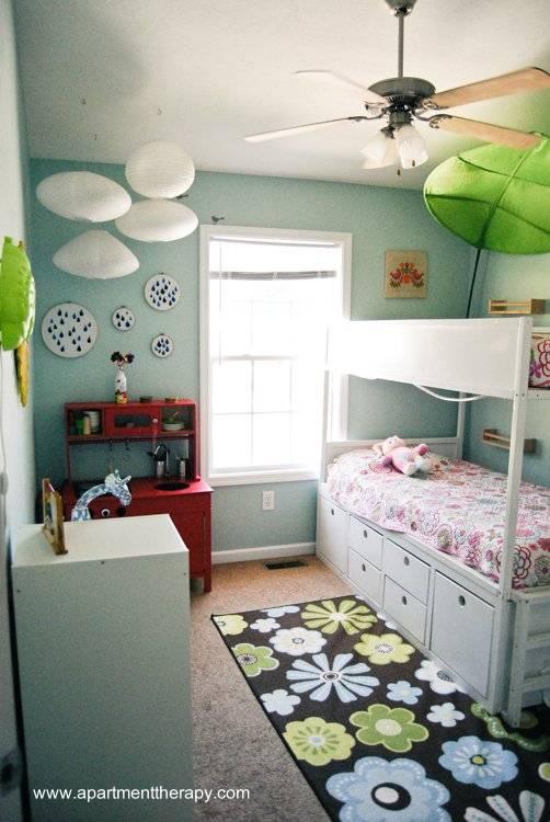 Cuarto de niñas con diseño y decoración infantil