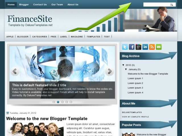 FinanceSite Blogger Template