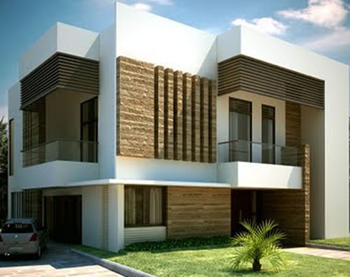 Modern house front view design
