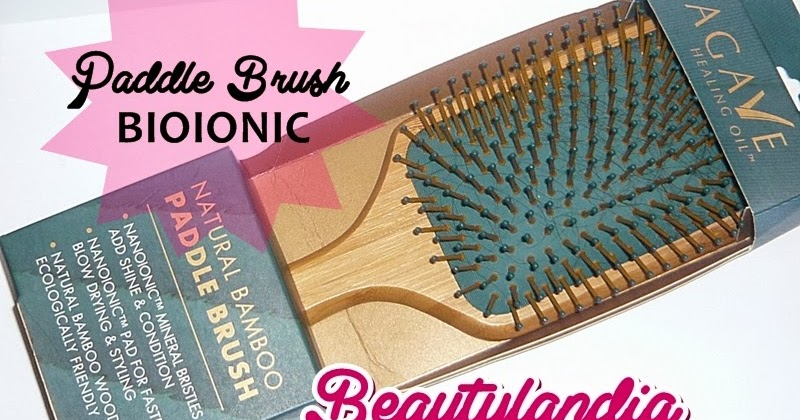 Bio Ionic Agave Healing Oil Natural Bamboo Hair Paddle Brush