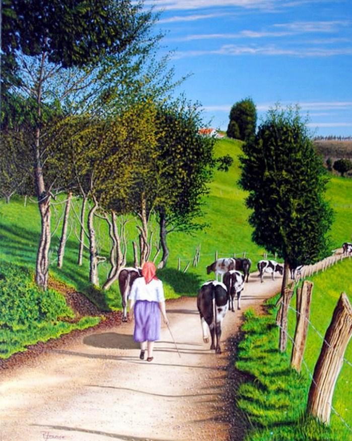 Im genes arte pinturas los paisajes insuperables de rodrigo rodriguez franco - Cuadros de vacas ...