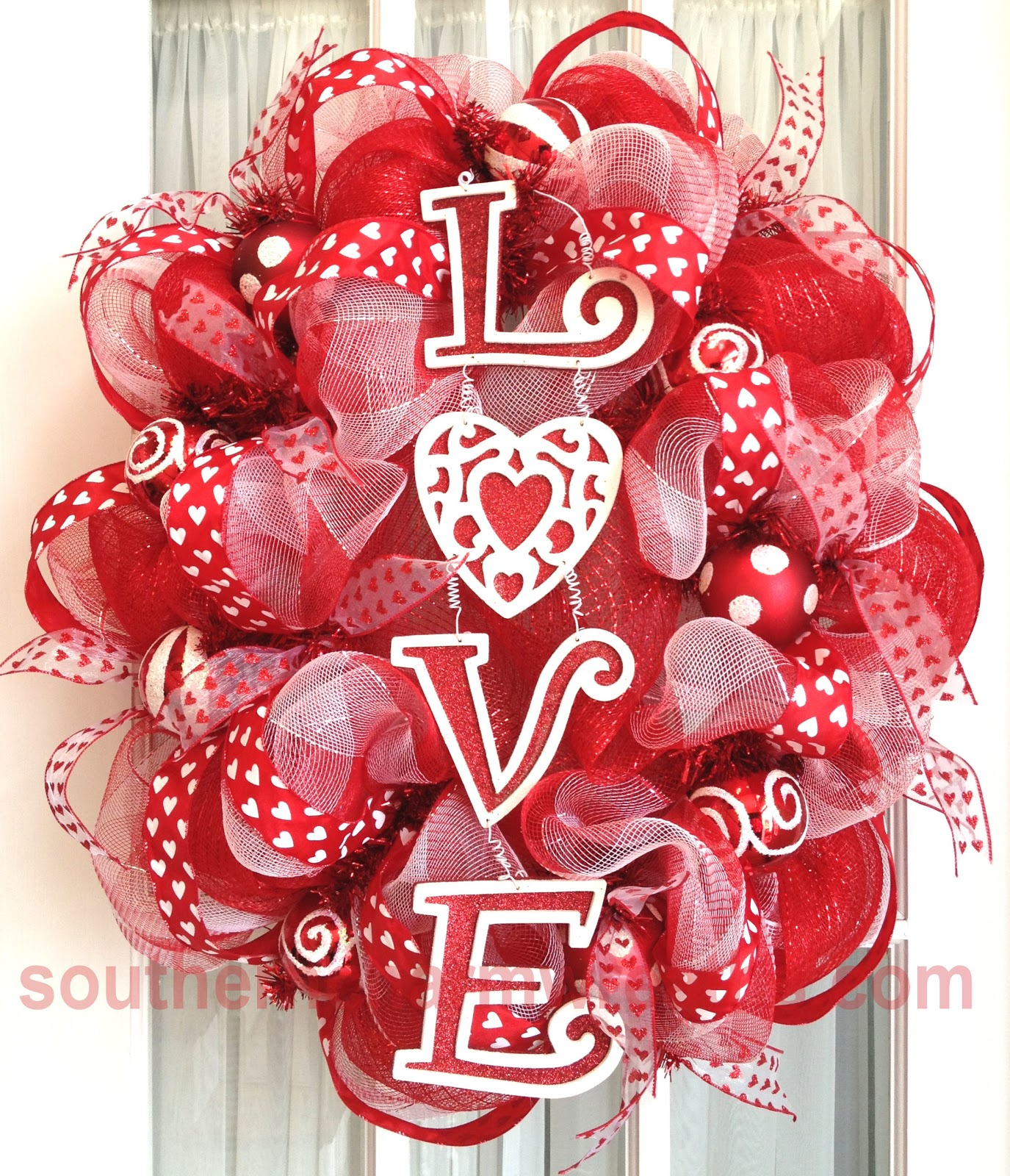 valentine heart door hanger