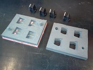 Retiradas as peças originais do Molde  de silicone finalizado