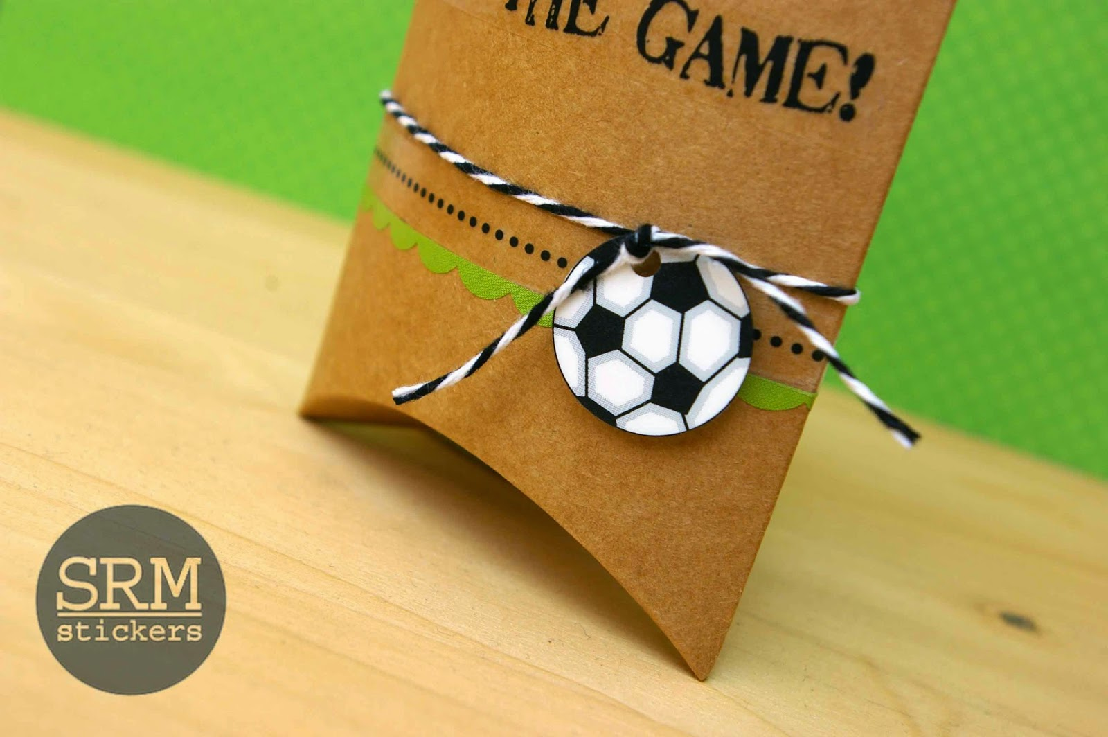 SRM Stickers - Soccer Team Treats by Lorena - #soccer #pillowbox #kraft #srmstickers #sticker #twine
