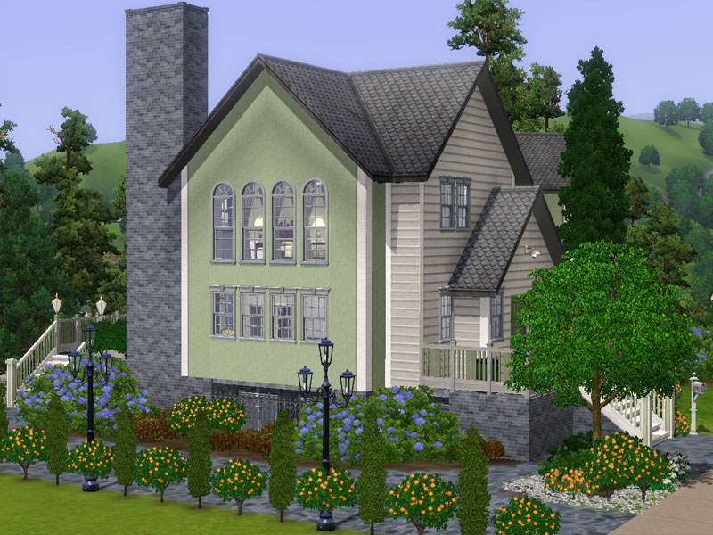 My sims 3 blog mibelle base game classic family home by for Classic family home