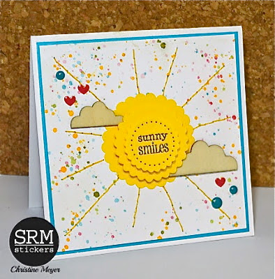 SRM Stickers Blog - Sunny Smiles Card by Christine - #card #stickers #punchedpieces #summer