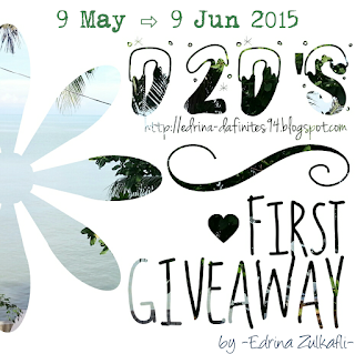 D2D's First Giveaway by Edrina | 9 Mei 2015 - 9 Jun 2015