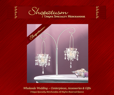 Shabby Wedding Centerpiece Crystal Bead Chandelier