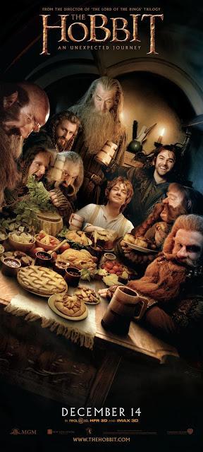 El Hobbit: Un viaje Inesperado - Banner cena enanos