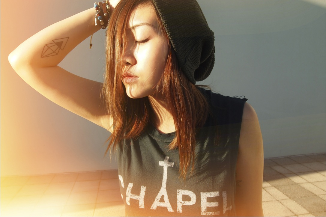 Anthea wearing UNIF chapel top and ASOS beanie on epique blog