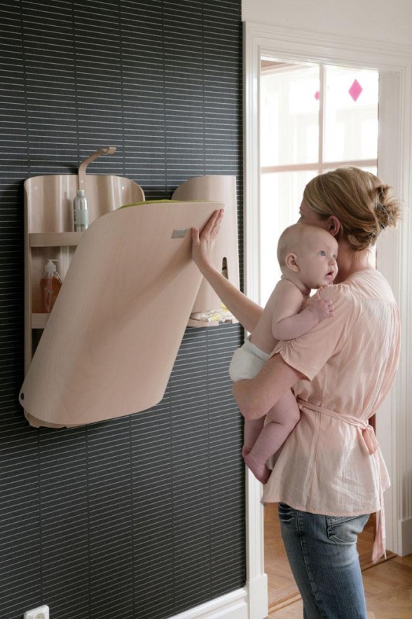 Baby Folding Changing Table by Bybo |Architecture of Modern Design ...