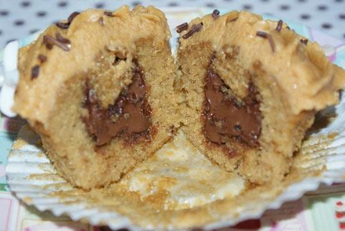 Interior de cupcake con Nutella
