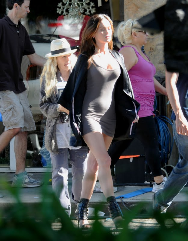 "Megan Fox on ""This is Forty"" Movie Set in Los Angeles"