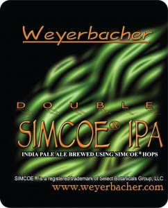 Old Weyerbacher Double Simcoe Label