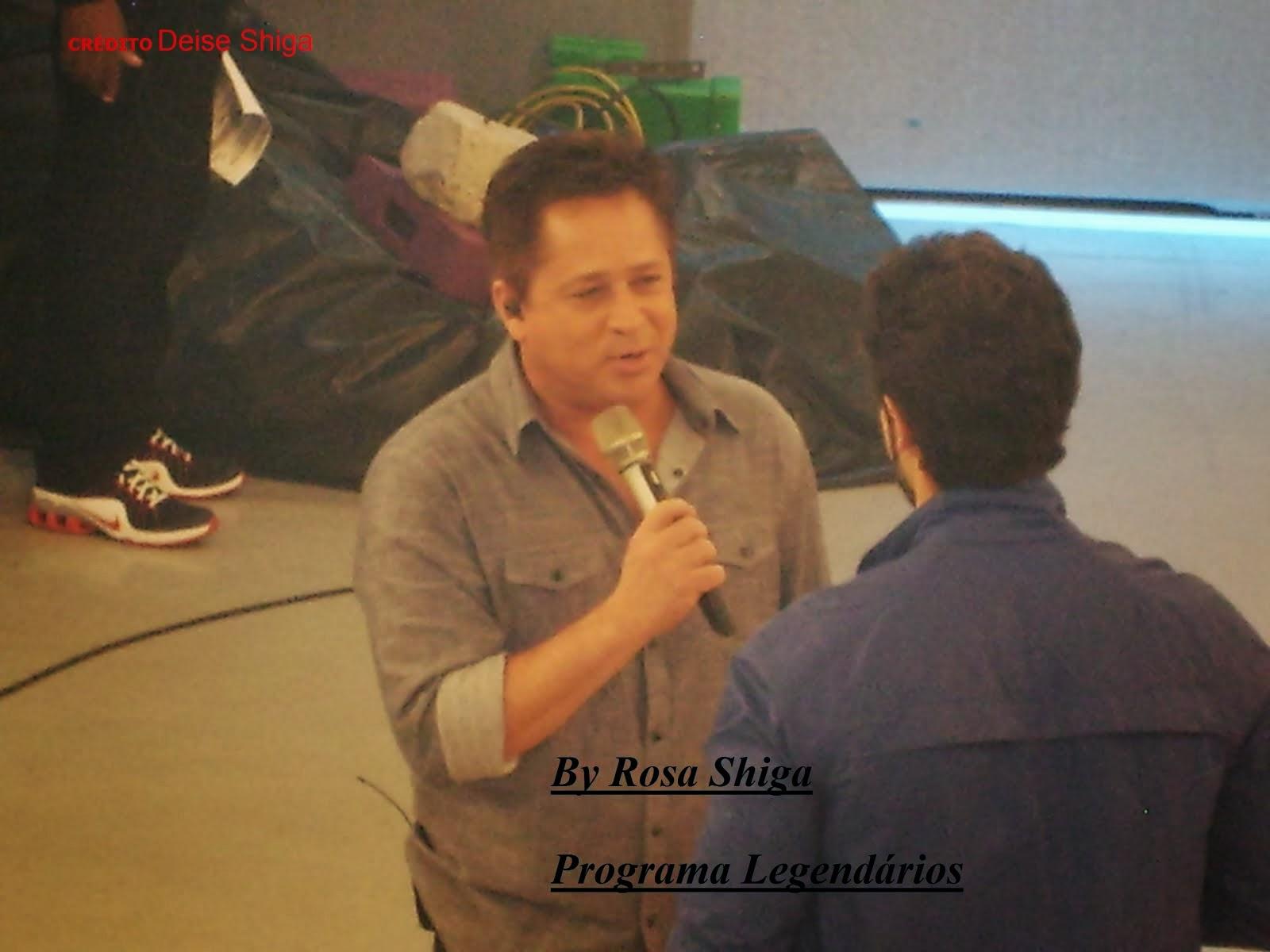 LEONARDO na Gravação Programa Legendários 30/ 10 2013