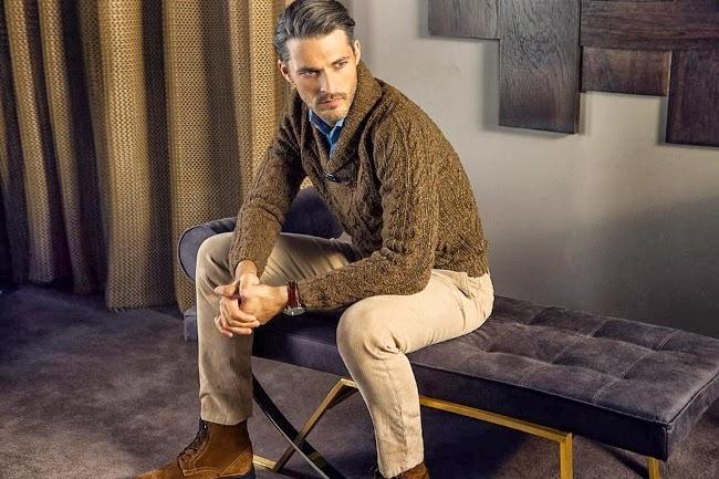 jersey cuello esmoquin trenzado