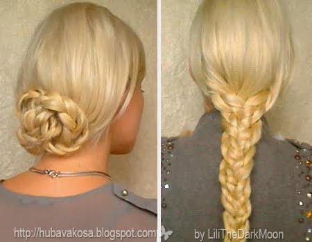 бързи и лесни прически с плитки за дълга коса