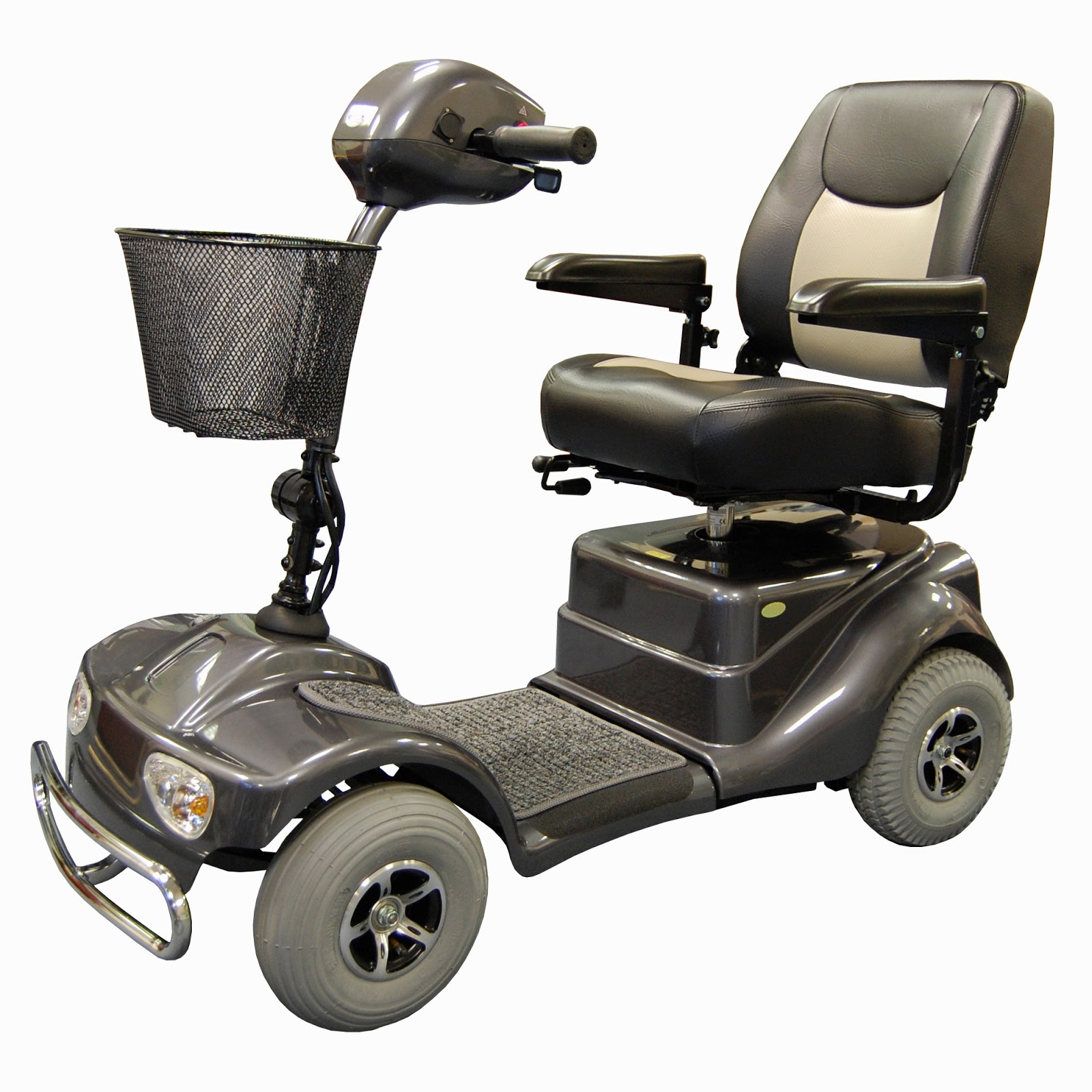 mobility scooter grey 4-wheels