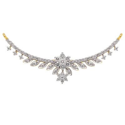 Latest Nakshatra Diamond Necklace models