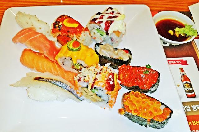 oishi sushi at Todai Buffet Restaurant | www.meheartseoul.blogspot.com