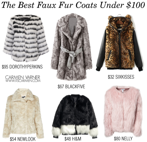 The Best Faux Fur Coats Under $100 / Carmen Varner // Lifestyle ...