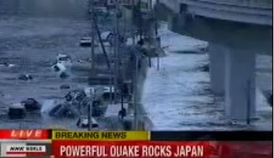 Video Gempa 8,9 SR di Jepang