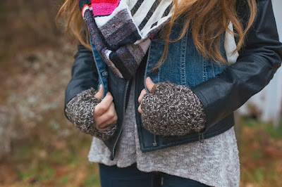 free crochet pattern fleece lined fingerless gloves