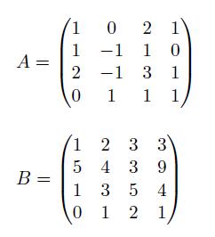 Rango de una matriz gauss 4x4