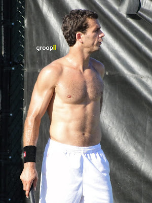 Jean-Julien Rojer Shirtless at Miami Open 2011