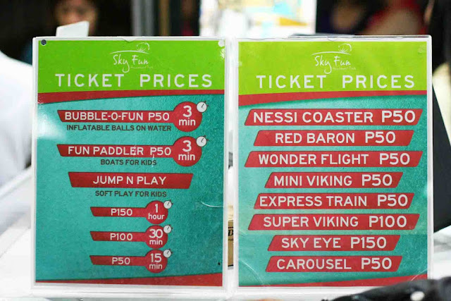 Ticket Prices Sky Fun Amusement Park at Sky Ranch Tagaytay