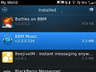 BBM Music v1.0.0.134 Terbaru di BlackBerry App World