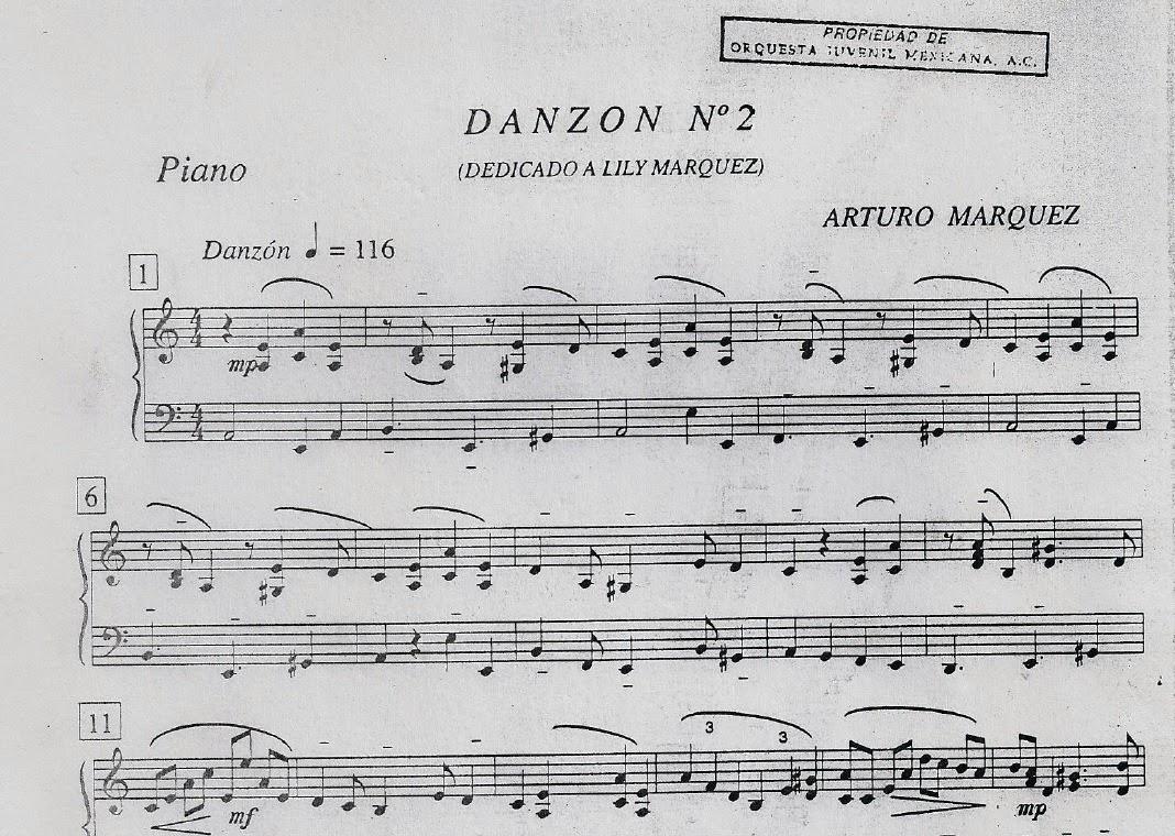Partituras Pdf Danzon N 2 Arturo Marquez danzon+piano