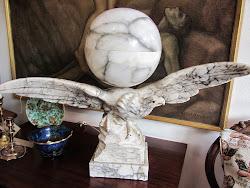 Lampa i marmor