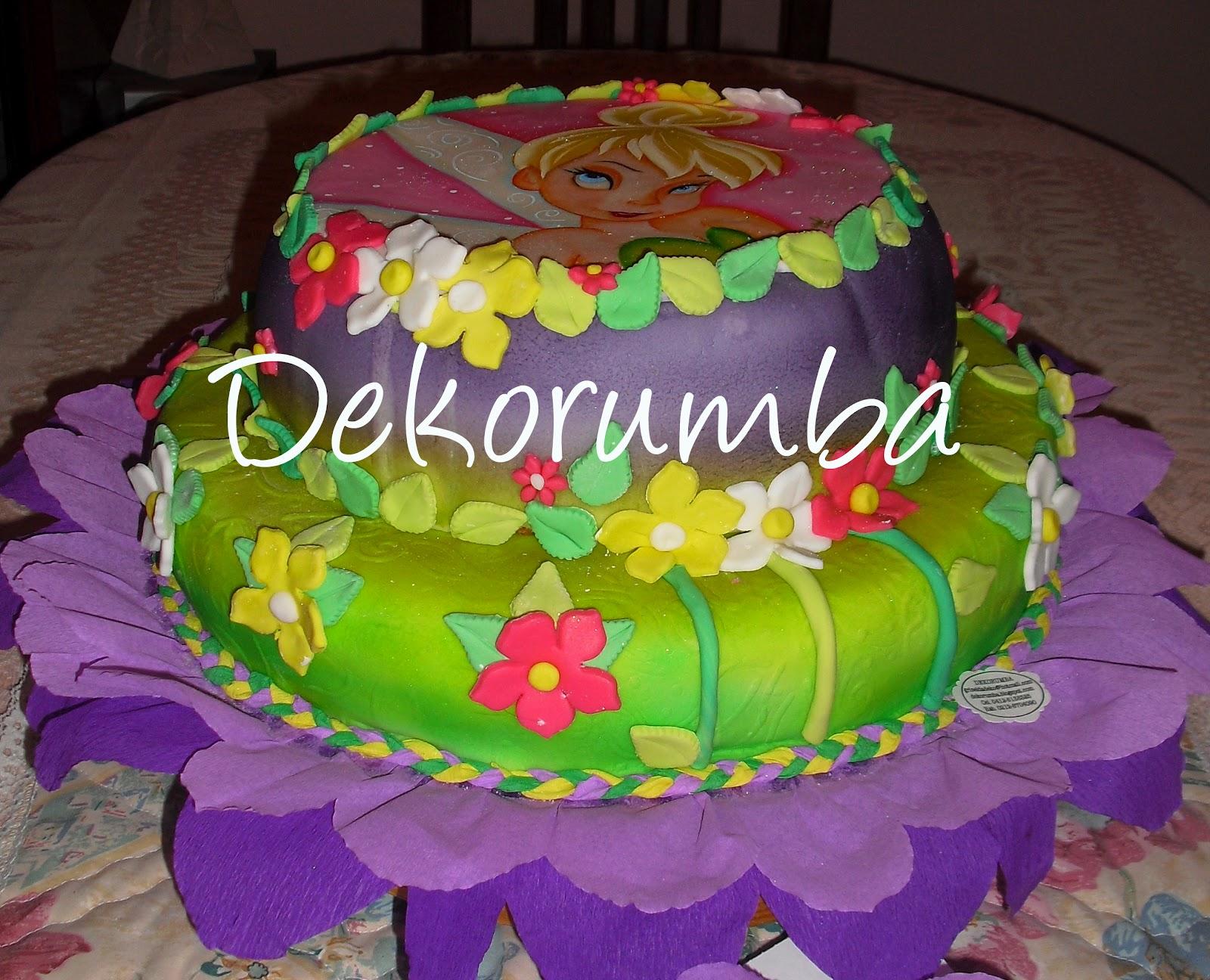 Dekorumba: Torta Decorada de Campanita - Tinker Bell