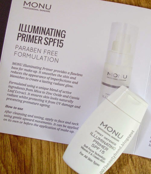 Monu Illuminating Primer lookfantastic february beauty box