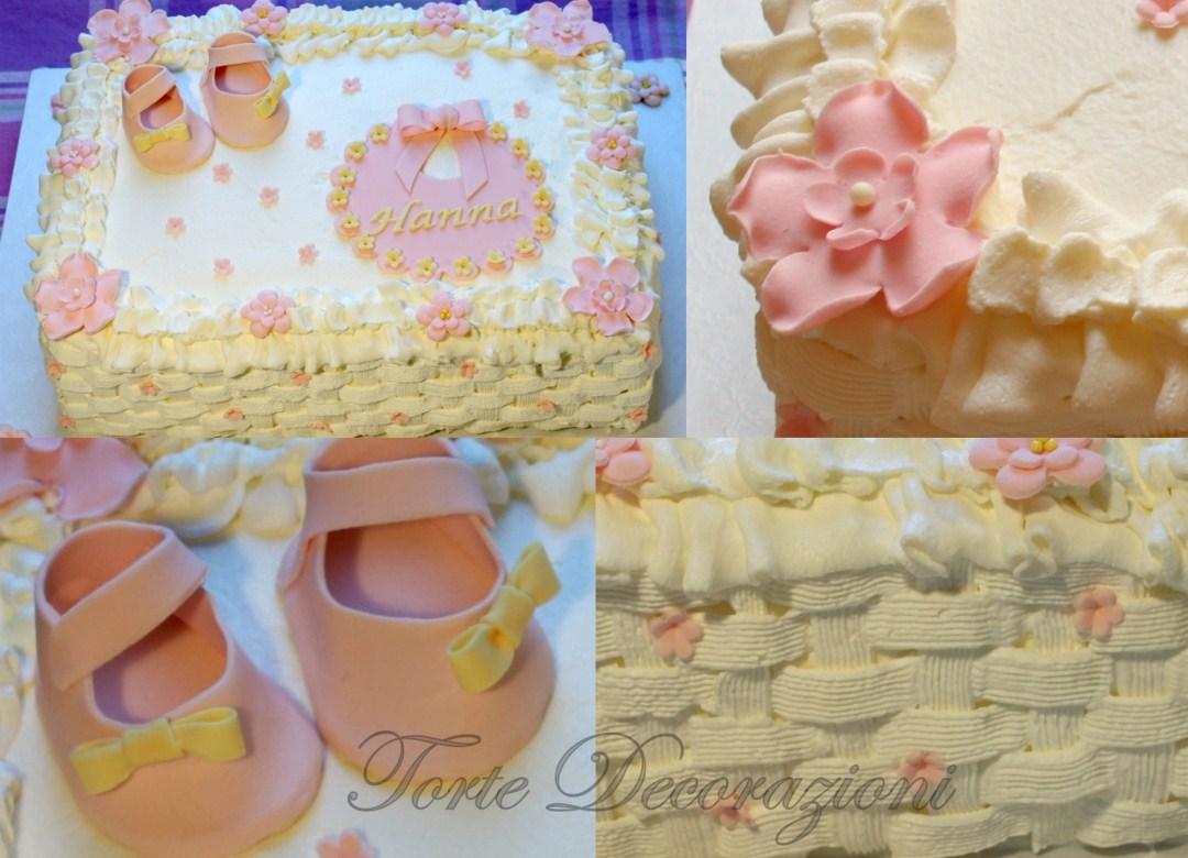 Torte e decorazioni torta battesimo bimba alla panna - Decorazioni battesimo bimba ...