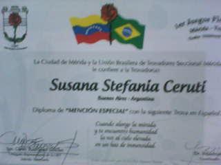 Diploma y Mensión Especial - Tema inmensidad