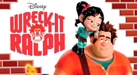 Vanellope on Ralph's shoulder Poster