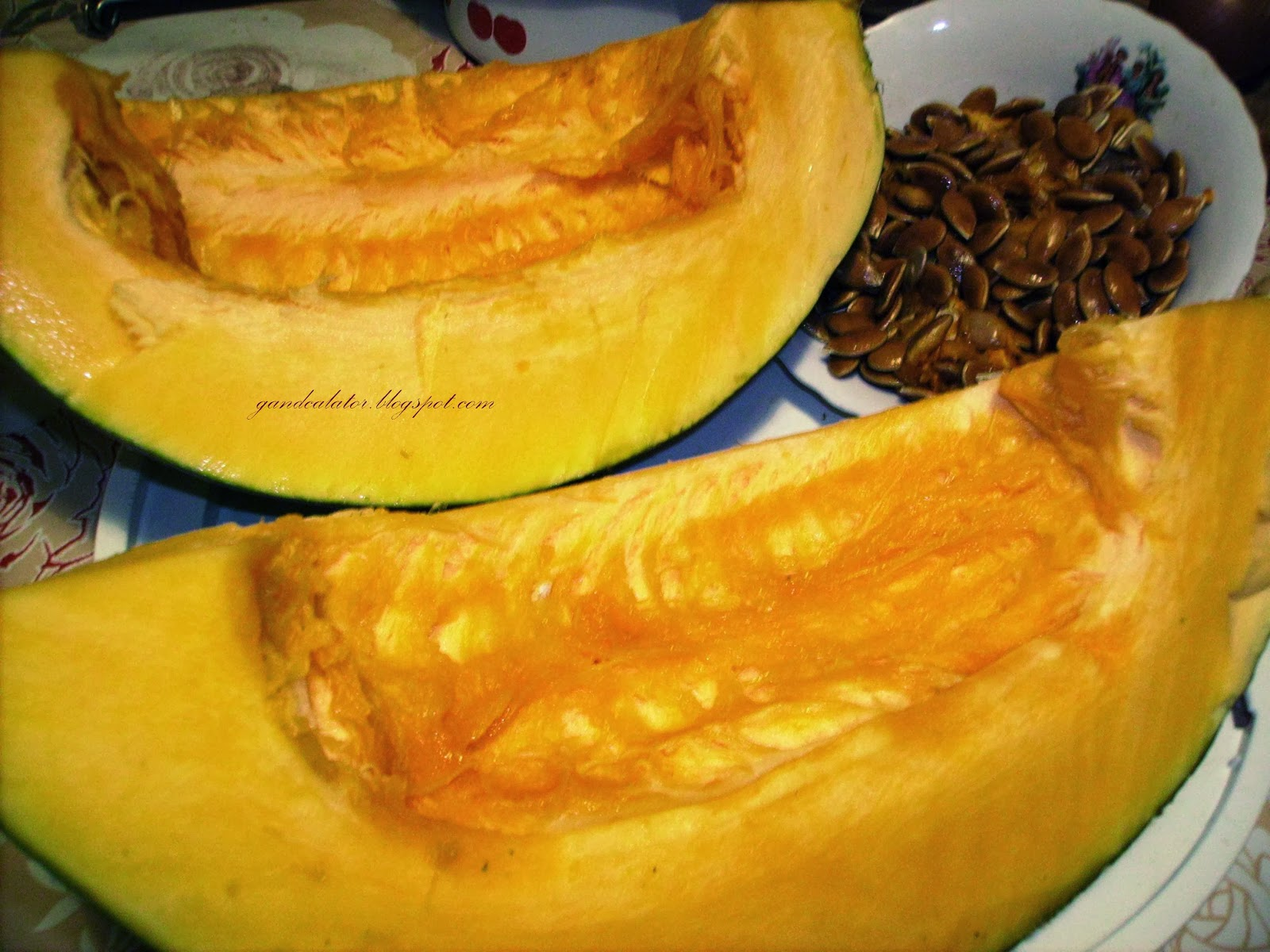 """Pumpkin refers to certain cultivars of squash, most commonly those of Cucurbita pepo, that are round, with smooth, slightly ribbed skin and deep yellow to orange coloration. The thick shell contains the seeds and pulp. Some exceptionally large cultivars of squash with similar appearance have also been derived from Cucurbita maxima. Specific cultivars of winter squash derived from other species, including C. argyrosperma, and C. moschata, are also sometimes called ""pumpkin""."