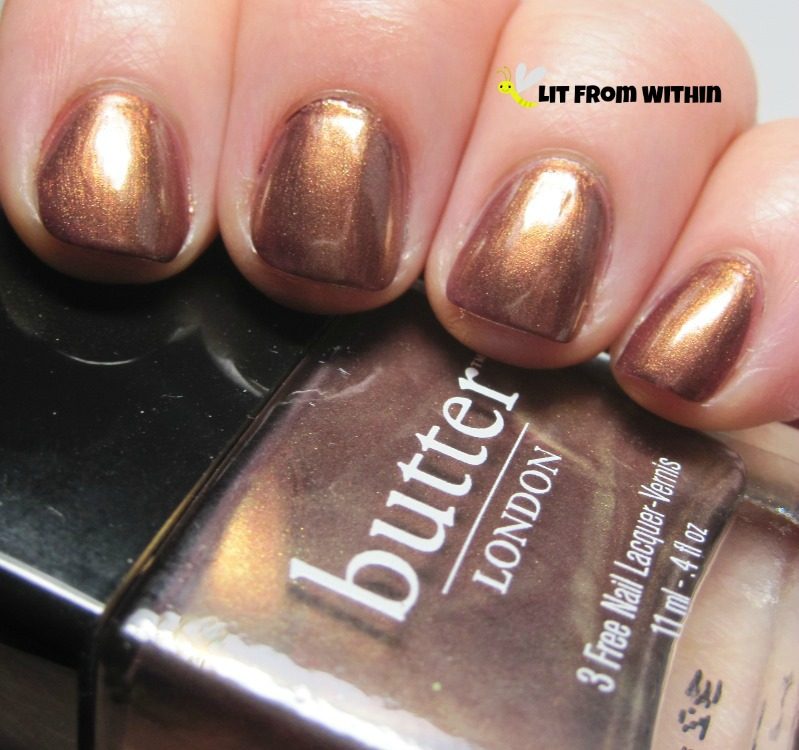 Butter London Trifle, metallic coppery-brown