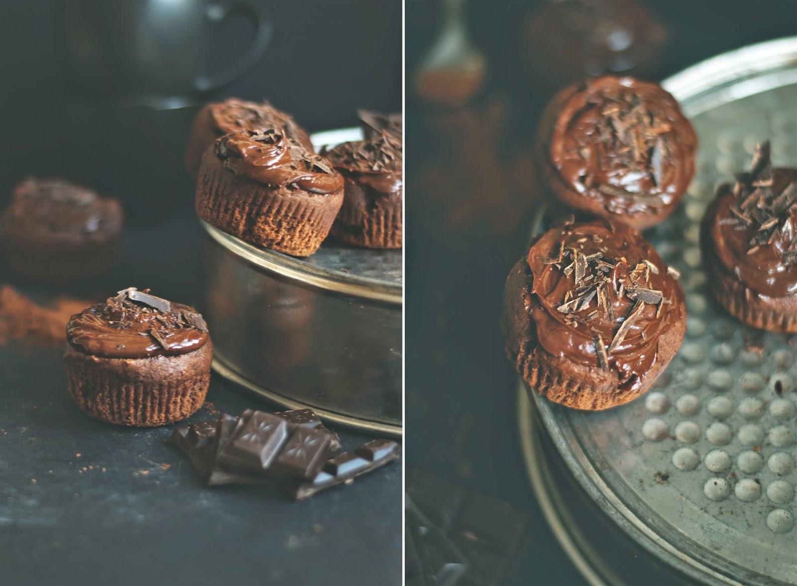 Muffinki czekoladowe z kremem