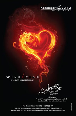 Valentine Special Dinner at Wildfire in Chennai