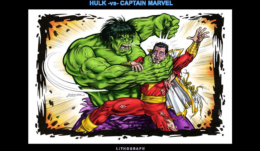 Hulk vs Capt Marvel