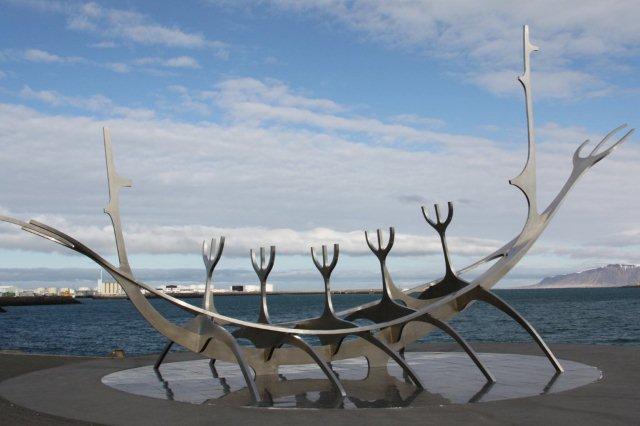 Escultura Solfar en Reikiavik, Islandia