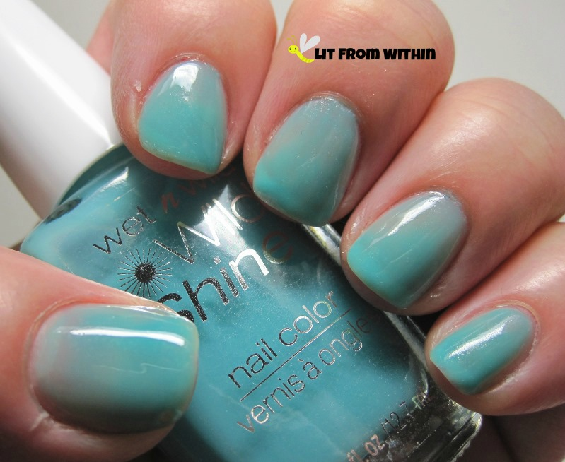 Wet 'n Wild Gyp-Sea Green, a jelly.. well, blue, really