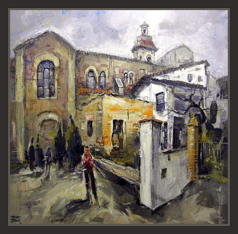 Pintura urgell lleida cuadros pueblos paisajes iglesia pintor ernest bed mattress sale - Pintores en lleida ...