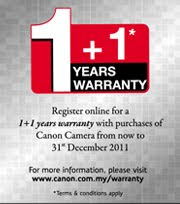 Register Online 1+1 Years Warranty