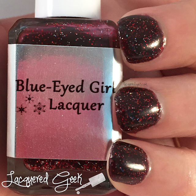 Blue-Eyed Girl Lacquer Newborn Solstice Sun nail polish swatch and review by Lacquered Geek