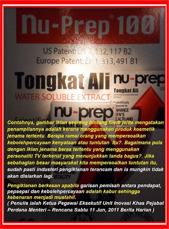 Pendapat,Pepsepsi,Kebolehanpercayaan TERANG dan JELAS dari Nu-Prep100 Jenama Malaysia Menuju Ummah