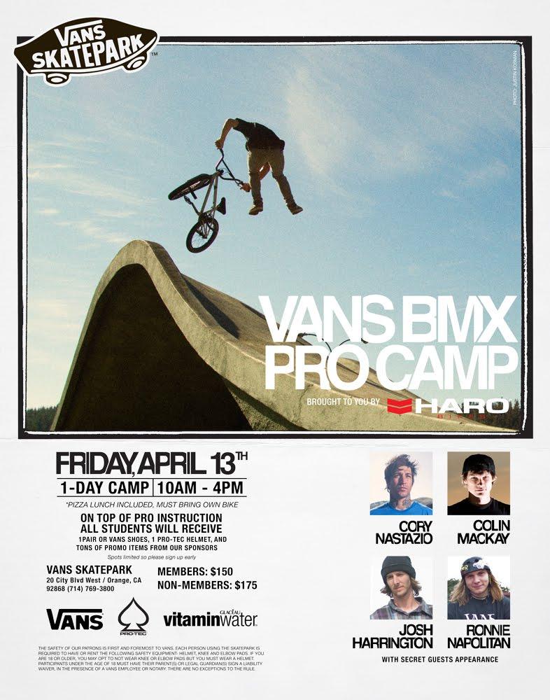 43f0662131 Vans BMX Blog  VANS CAMP APRIL 13 OC C.A!